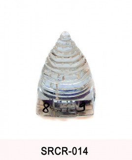 Crystal Sumeru Shree Yantra - 89 gm (SRCR-014)