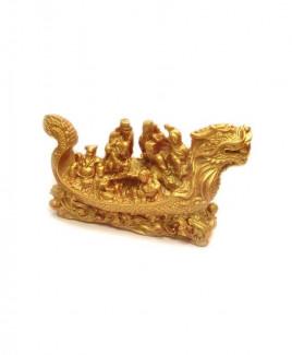 Eight Immortals on Dragon Boat (Metalic) - 12 cm