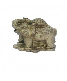 Elephant with Money Tortoise - 6 cm (FEEM-002)