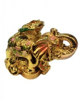 Elephant with Money Toad - 10 cm (FEEM-001)