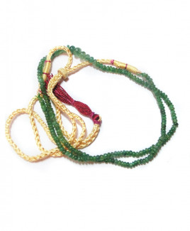Emerald (Panna) Mala / Rosary Single String (MAEM-001)