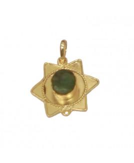 Emerald/ Panna Star Shaped Pendant (PEEM-001)