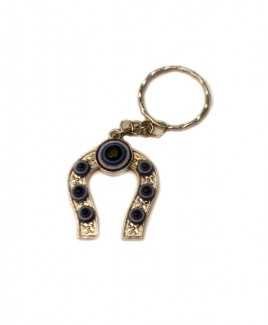 Evil Eye Horseshoe Keychain - 9 cm (VAEEK-001)
