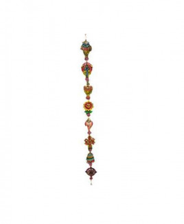 Eight Auspicious Symbols in Multi Color Hanging Vertically - 105 cm (FEEAS-003)