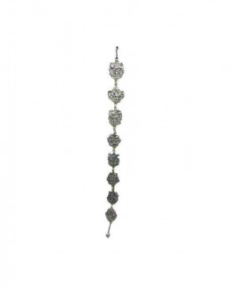 Eight Auspicious Symbols Silver Finish Hanging Vertically - 75 cm (FEEAS-006)