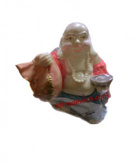 Laughing Buddha with Money Bag Gold Ingots -18 cm (FELB-004)
