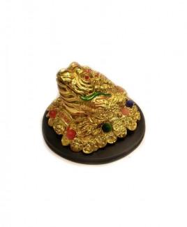 Three legged toad / Frog (Golden) - 9 cm (FELTO-005)