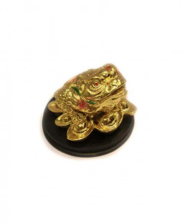 Three legged toad / Frog (Golden) - 6 cm (FELTO-004)