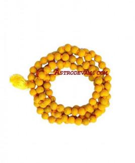 Haldi (Turmeric) Rosary/ Mala - 07 mm (MATR-001)