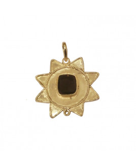 Hessonite/ Gomed Star Shaped Pendant (PEHE-001)