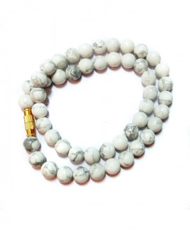 Howlite Mala / Rosary - 08 mm (MAHL-002)