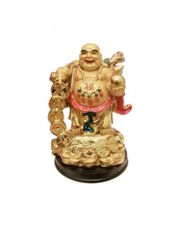 Laughing Buddha with Money Bag - 17 cm (FELB-012)