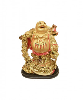 Laughing Buddha with Gold Ingots - 17 cm (FELB-011)