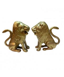 Brass Lion - Pair- 665 gm (MVBL-002)