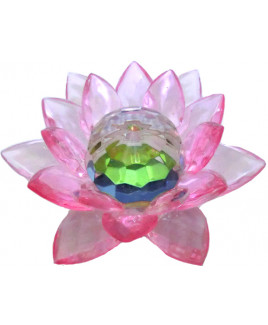 Crystal Lotus Pink Petals - 8 cm