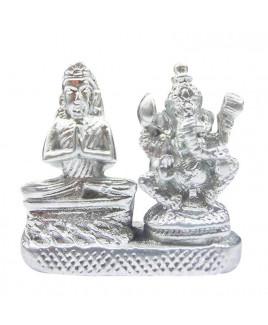 Parad (Mercury) Maa Parvati Ganesh - 50 Gm- (PAPG-001)