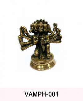 Metallic Panchmukhi (Five Face) Hanuman - 375 gm