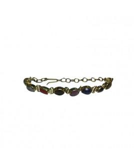 Navratna Bracelet in Yellow Metal (BRNG-002)