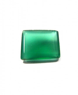 Green Onyx Octagon Step Gemstone - 5.15 Carat (ON-17)