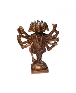 Metallic Panchmukhi (Five Face) Hanuman - 200 gm- (VAMPH-002)