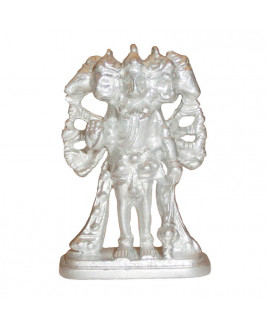 Parad Panchmukhi Hanuman Standing Idol - 50 Gm- (PAHN-007)