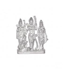 Parad Ram Lakshman Sita Hanuman Idols (Ram Darbar) - 110 gm (PARD-001)