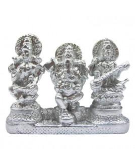 Parad (Mercury) Lakshmi Ganesh Saraswati - 100 GM - (PALGS-001)