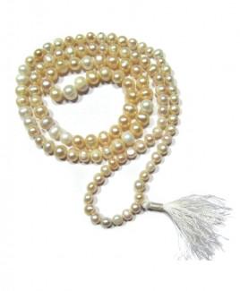 Pearl (Mukta, Moti) Mala / Rosary - 06 mm (MAPE-002)