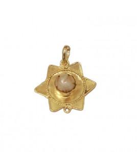 Ganesh Pearl (Moti) Star Shaped Pendant (PEGP-001)