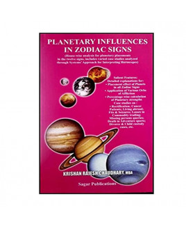 Planetary Influences in Zodiac Signs In English By  Krishna Rajesh Chaudhary -(BOAS-0876)