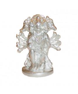 Parad Panchmukhi Hanuman Seated Idol - 100 Gm- (PAHN-006)