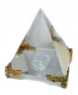 Crystal Pyramid on stand - 4 cm (PYCS-001)