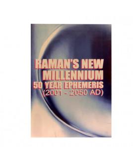 Raman's New Millennium 50 Year Ephemeris- (2001 - 2050 AD)- in English By B. V.  Raman  - (BOAS-1075)