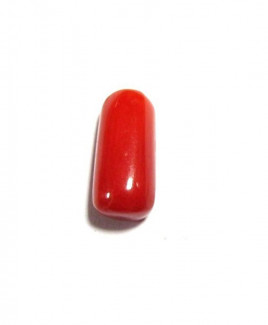 Red Coral Cylindrical - 5.00 Carat (RC-08)