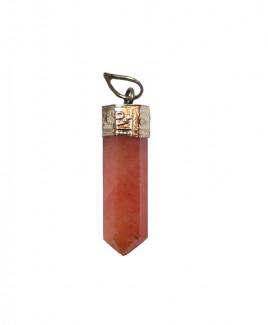 Red Jasper Pencil Pendant