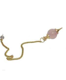 Rose Quartz Ball Dowsing Pendulum (VTBD-002)