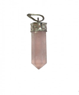 Rose Quartz Pencil Pendant