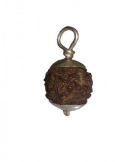 4 MUKHI RUDRAKSHA With Silver Pendent (RUC04-004)- (NEPAL)