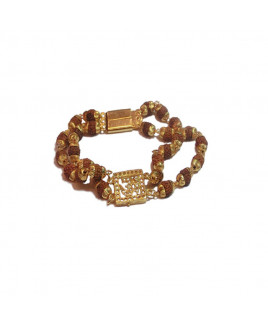 5 Mukhi Rudraksha Om Bracelet (RUOB-001)- (NEPAL)