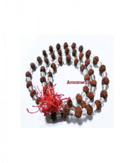Rudraksha Crystal Rosary / Mala (MACR-007)