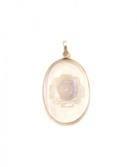 Crystal Shree Yantra Pendant / Locket