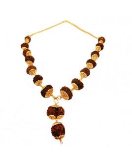 Siddha Mala (1 to 14 Face, Gaurishankar, Ganesh Rudrakshas) -(24 Carat Gold Plated) -(MARS-003)