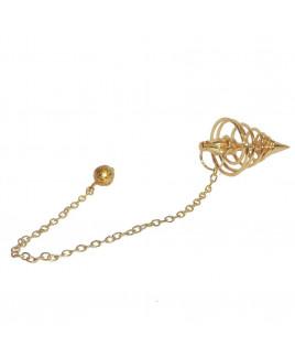 Spiral Dowsing  Brass Pendulum (VTSD-002)