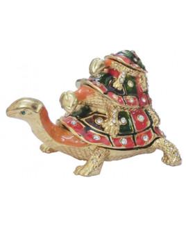 Bejeweled Triple Tortoise - 8 cm