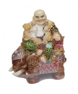 Bejeweled Laughing Budhha - 40 cm (FELB-02)