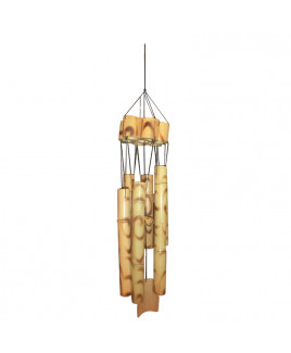 Wooden Wind Chime 6 Rods - 62 cm (FEWWC-001)
