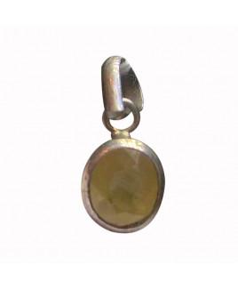 Yellow Sapphire Pendant -(YSP-007)