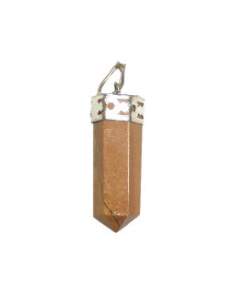 Yellow Aventurine Pencil Pendant
