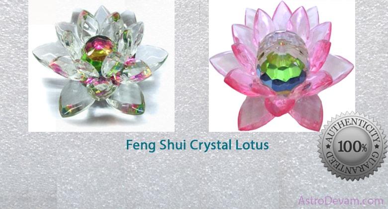 Serene And Beautiful Feng Shui Crystal Lotus