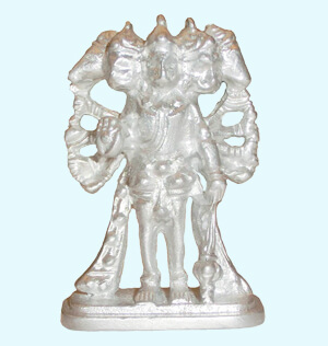 Parad Panchmukhi Hanuman Standing Idol